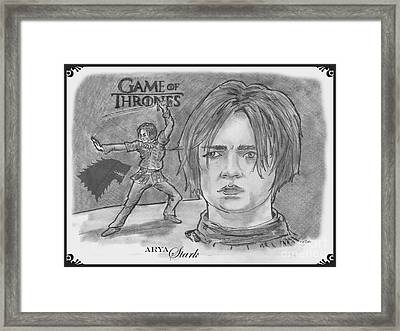 Ayra Stark Framed Print by Chris  DelVecchio