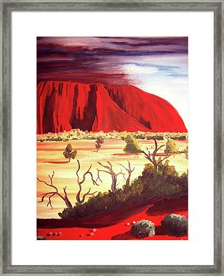 Ayres Rock Framed Print by Martin Williams