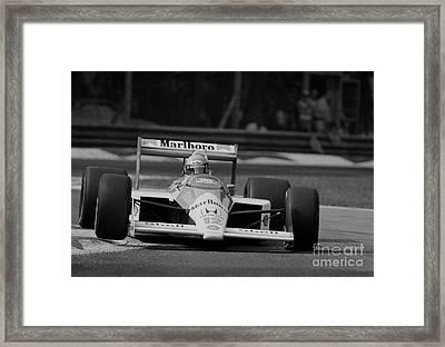 Ayrton Senna. 1988 Italian Grand Prix Framed Print