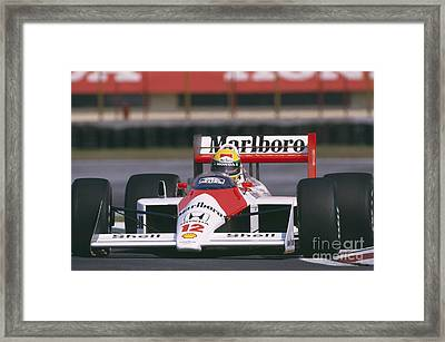 Ayrton Senna. 1988 Mexican Grand Prix Framed Print