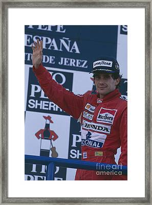 Ayrton Senna. 1989 Spanish Grand Prix Winner Framed Print
