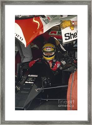 Ayrton Senna. 1990 Italian Grand Prix Framed Print