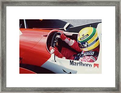 Ayrton Senna. 1993 Spanish Grand Prix Framed Print