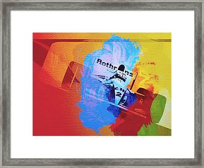 Ayrton Senna Framed Print by Naxart Studio