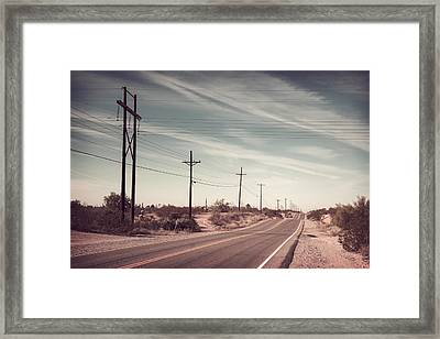 Framed Print featuring the photograph Az Highway by Joseph Westrupp