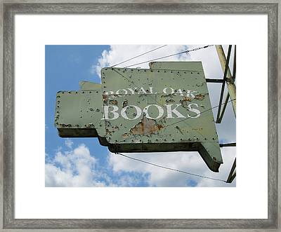 A Sign Of The Times Framed Print