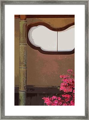 Azalea At Shisendo Framed Print by Cinnabar and Saffron