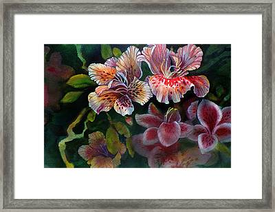 Framed Print featuring the painting Azalea by Gertrude Palmer