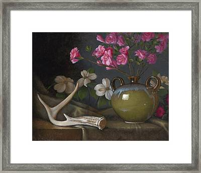 Azaleas And Dogwood Framed Print by Timothy Jones