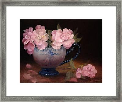 Azaleas In A Cup Framed Print by Loretta Fasan