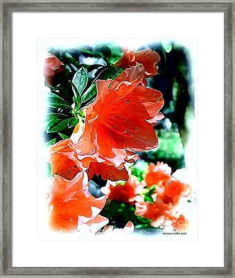 Framed Print featuring the painting Azaleas In The Spring by Patricia Griffin Brett
