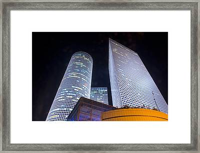 Azrieli Towers Framed Print by Kobby Dagan