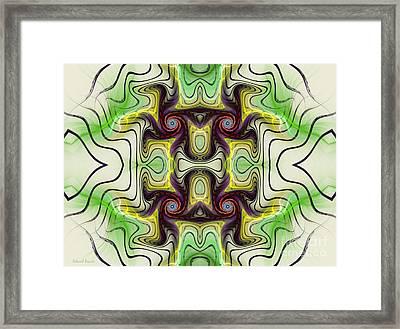 Aztec Art Design Framed Print