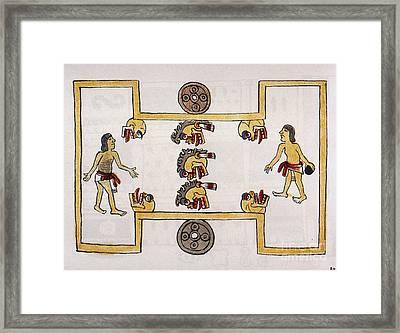 Aztec Ball Game Framed Print by Granger