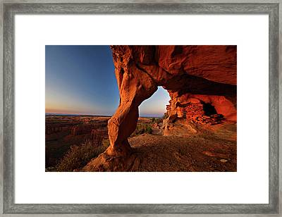 Aztec Butte Framed Print