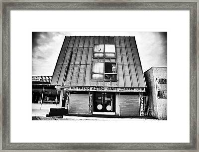 Aztec Cafe Framed Print by John Rizzuto