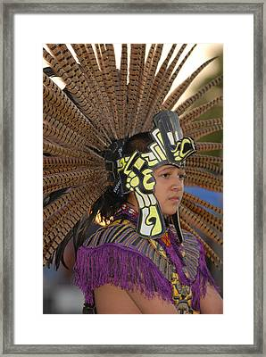 Aztec Dancer Framed Print by Dennis Hammer