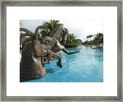 Framed Print featuring the photograph Aztec by Dianne Levy
