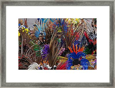 Aztec Feather Dancers - Mexico Framed Print