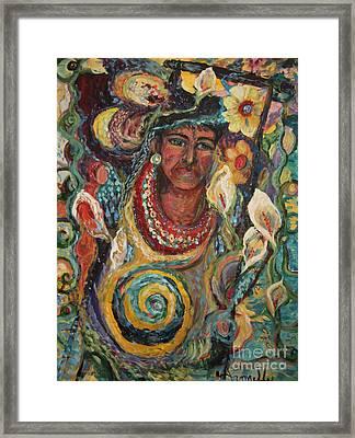 Aztec Garden Framed Print