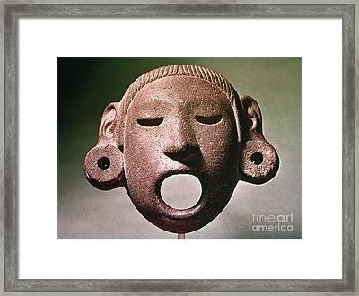 Aztec Mask: Xipe Totec Framed Print