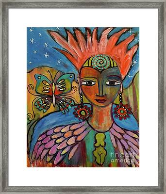 Aztec Princess Framed Print