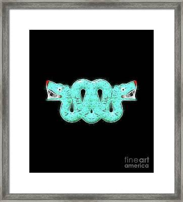 Aztec Snake By Raphael Terra Framed Print
