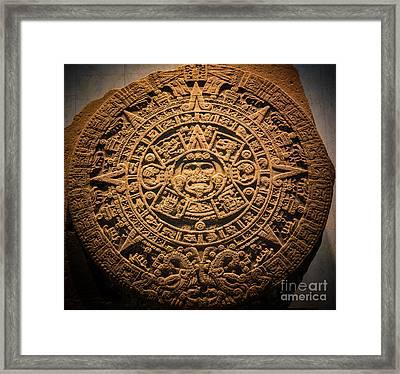 Aztec Stone Of The Sun  Framed Print