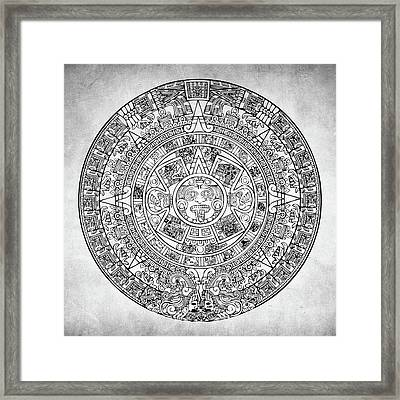Framed Print featuring the photograph  Aztec Sun by Taylan Apukovska