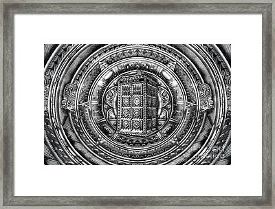 Aztec Time Lord Phone Box Framed Print