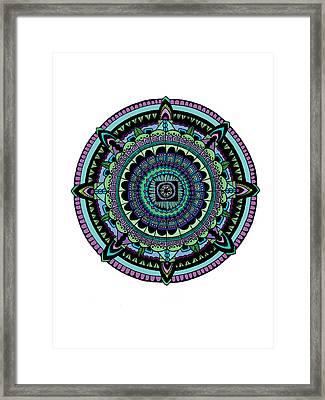 Azteca Framed Print by Elizabeth Davis