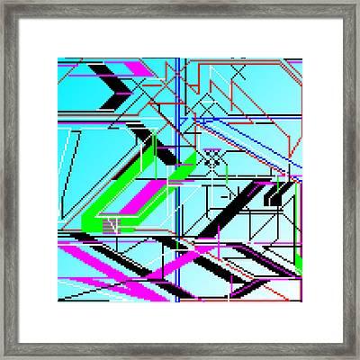 Aztqbvte Framed Print by Qq Qqq