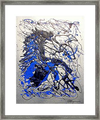 Framed Print featuring the painting Azul Diablo by J R Seymour