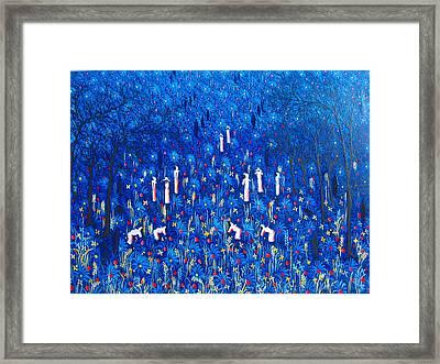 Azul Framed Print by Frantz Petion