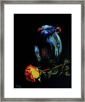 Azure Amphora Vase  Framed Print