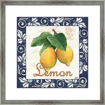 Azure Lemon 1 Framed Print by Debbie DeWitt