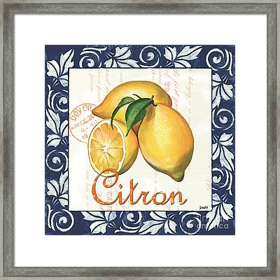 Azure Lemon 2 Framed Print by Debbie DeWitt