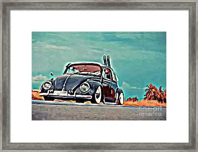 Azure Framed Print by S Poulton