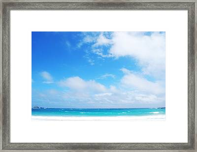 Azure Framed Print by Susette Lacsina