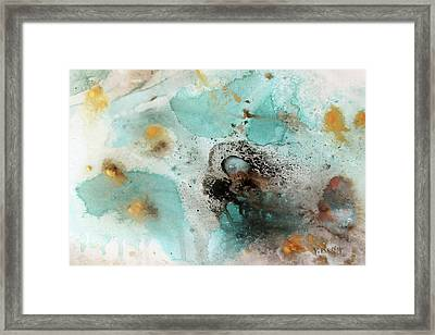 Framed Print featuring the painting Azure Waters By V.kelly by Valerie Anne Kelly