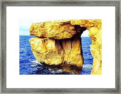 Azure Window Island Of Gozo Framed Print by Thomas R Fletcher