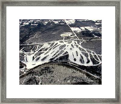 Framed Print featuring the photograph B-009 Blackjack Ski Mountain Bessemer Michigan by Bill Lang