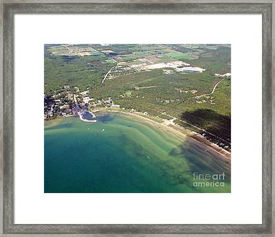 Framed Print featuring the photograph B-012 Baileys Harbor Wisconsin Ridges by Bill Lang