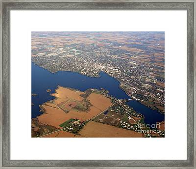 Framed Print featuring the photograph B-013 Beaver Dam Wisconsin by Bill Lang