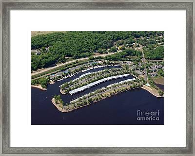 Framed Print featuring the photograph B-014 Bayport Marina Minnesota by Bill Lang