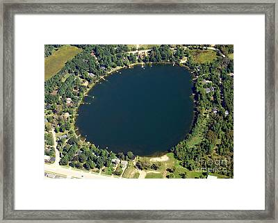 Framed Print featuring the photograph B-015 Bughs Lake Waushara County Wisconsin by Bill Lang
