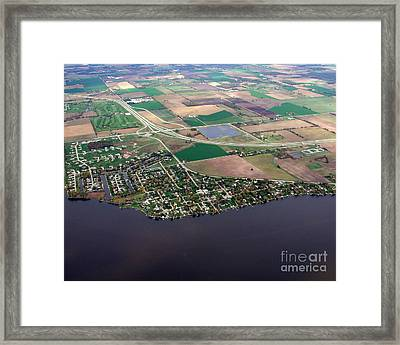 Framed Print featuring the photograph B-017 Butte Des Morts Town Wisconsin by Bill Lang