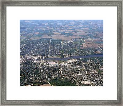 Framed Print featuring the photograph B-019 Beloit Wisconsin by Bill Lang
