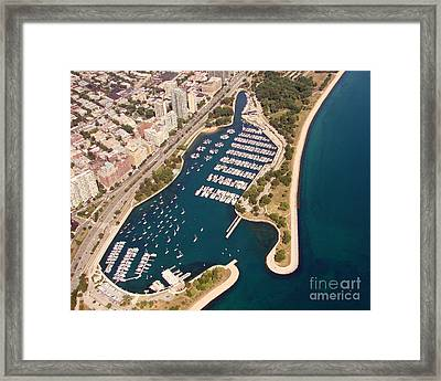 Framed Print featuring the photograph B-020 Belmont Harbor Chicago Illinois by Bill Lang