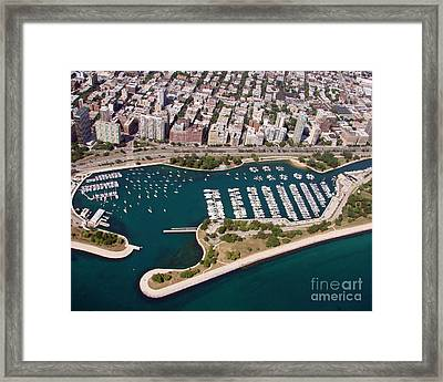 Framed Print featuring the photograph B-023 Belmont Harbor 2 Chicago Illinois by Bill Lang